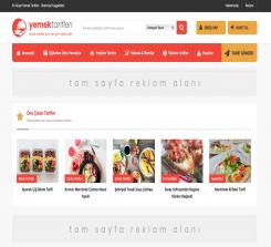 Yemek Tarifleri Wordpress Teması - TemaFabrika